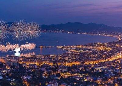 Feux d'artifices Cannes